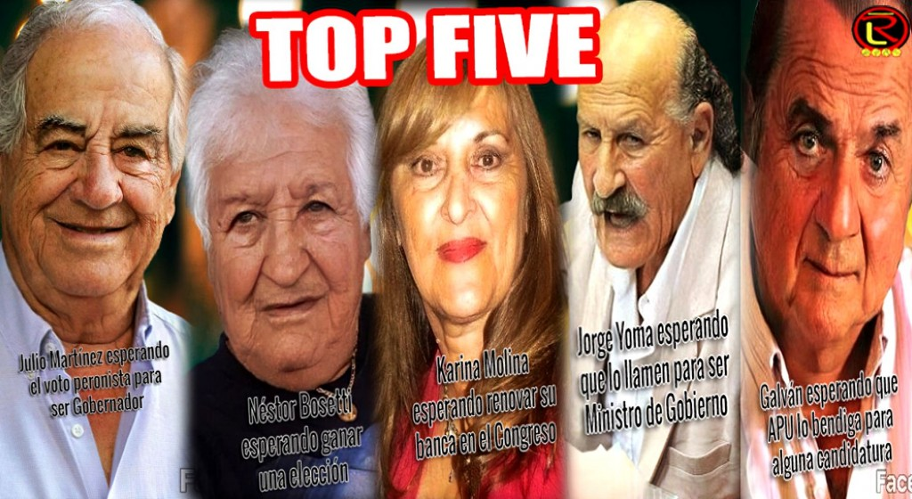 Top Five Face App políticos riojanos